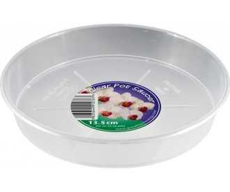 transparent saucers for orchid pots