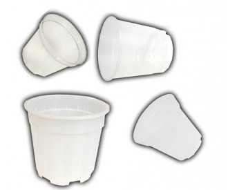 Transparent plastic pots from 9 to 21 Cm