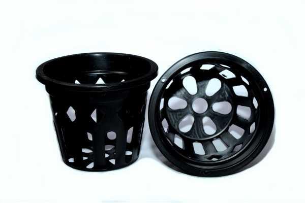 Pot panier noir 11.5Cm
