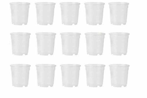 Tarros de plástico transparente de 6 cm