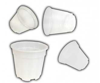Pots plastique transparents de 9 à 21 Cm